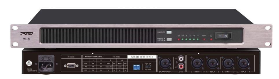 MS720一进四出音频信号分配器